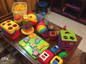 Blocks and puzzles from Fisher Price all branded