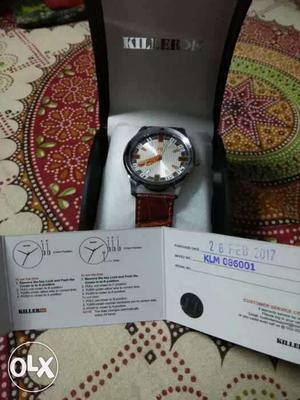 Killer white dial wrist watch for men in