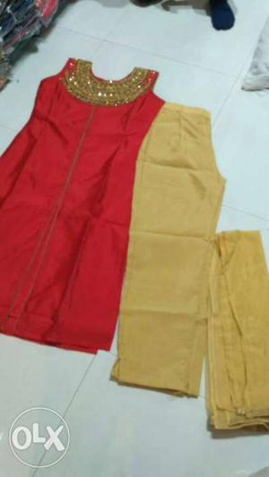 SAlwaar suit Tafeta silk top and pant with lining