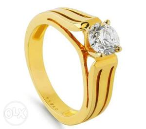 Silver ring with cz it can be made in gold also