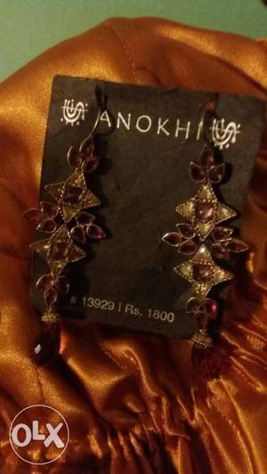 Brand new original Anokhi earrings, original