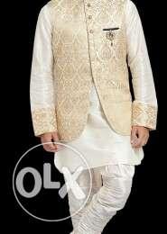 Designer Indo western Off-White Jacquard