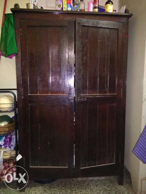 Teak wood antique wardrobe().