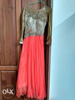 Used just once. party wear gown with very