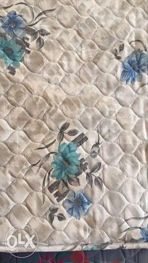 White, Blue And Green Floral Mattress