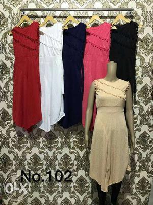 Women's Assorted Color One-shoulder Dresses
