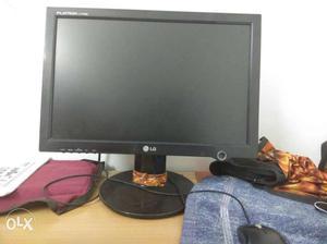 Black LG Flatron Computer Monitor