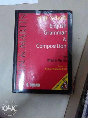 English grammar by Wren and Martin colourised