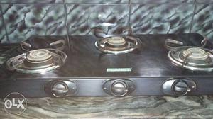 It is a 3 stove gas burner.3 years old.Planet
