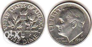 One dime coin USA x 20 PCs. Random dates from