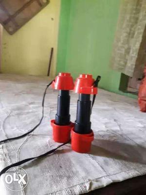Red-and-black Binoculars