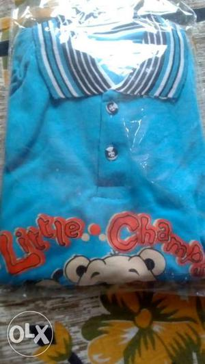Blue Little Champs Polo Shirts