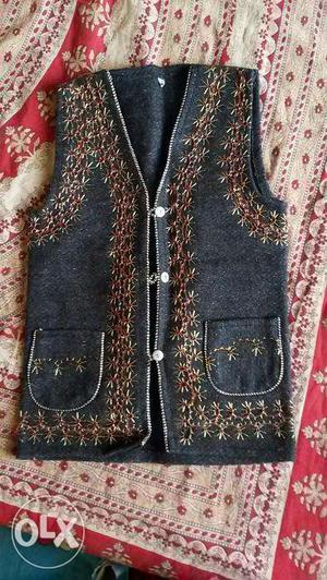 Kurta with Sleeveless Jacket