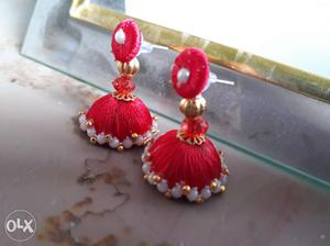 Gorgeous Red Ear rings for gorgeous look for