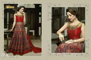 Red Scoop Neck Sleeveless Dress