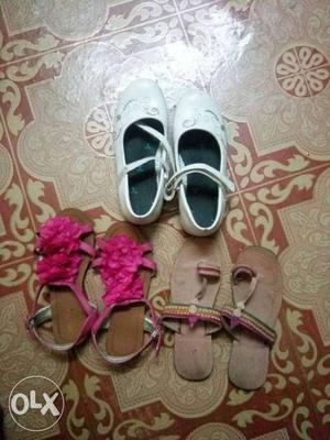 I have these pairs of slippers, sandals and
