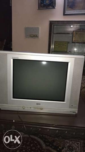 LG Flatron 21 inch Grey CRT TV