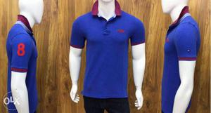 Men's Blue Tommy Hilfiger Polo Shirt