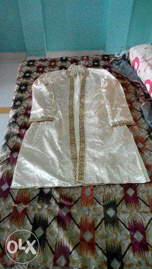 Ready to Wear Marriage Sherwani. Excellent Handwork -