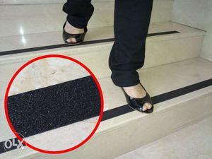 Anti slip tape for slippert steps, emmergency