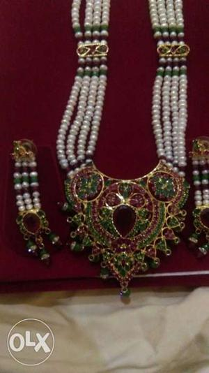 Rani haar ruby and amrald with sancha moti new