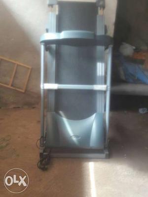 Black And Gray Treadmill Machine