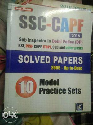 SSC-CAPF Solved Papers Book