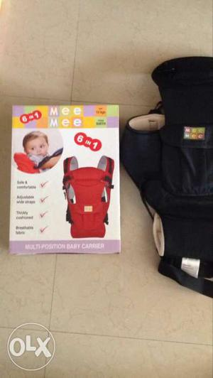 Baby's Black Mee Mee 6 In 1 Carrier With Box