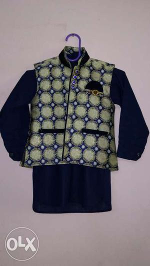 Brand new Designer kurta with jacket and indo western