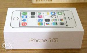Apple Iphone 5S 16GB Silver Brand New sealed pack with bill