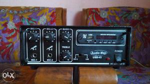 Amplifier with mic system and FM/USB and one AUX