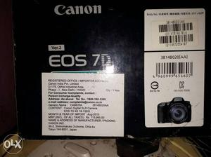 Canon 7D camera with 32 gb memmory card.details