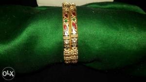 22 crt gold kangan  gm/cts size 2.2