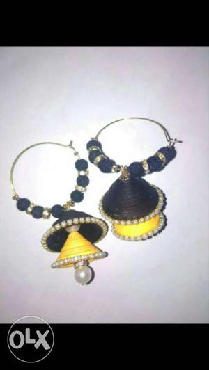 Jhumka Earrings, Can be customised in any colour