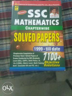 SSC Mathematics Chapterwise Solved Papers Book