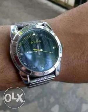 Sonata Mens watch with stainless steel chain for sale..