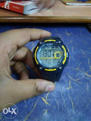Sonata s shock digital watch, alarm and light