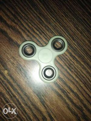 White And Silver Hand Spinner aka fidget spinner
