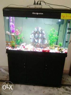 Fish Aquarium Width 3 Foot Height. 4.5 Foot Glass