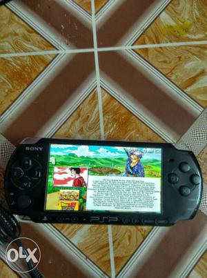 A PSP in a good condition and a 8 gb memory stick