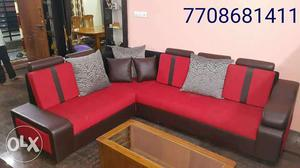 Customized corner sofas with high density foams