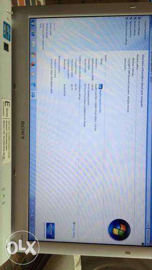 Gray Sony Vaio Laptop 2gb ram