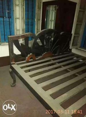 It's a burma teak wood king size bed in good