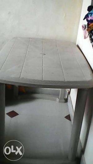 Rectangular White Plastic Table