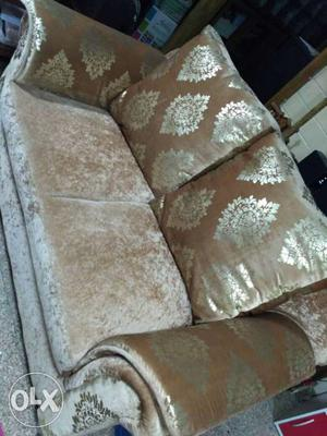 Brand new 2 seater sofa with large cushions.