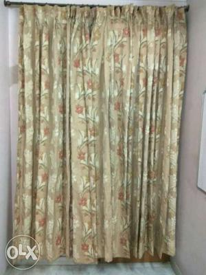 Curtains Faux silk beautifully pleated pleasant floral