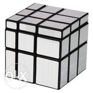 Rubik's cube brand new 2 colours golden and silver