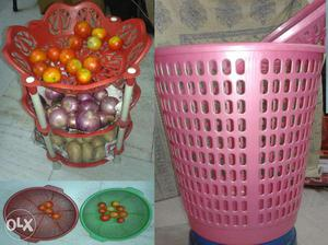 Solid plastic cloth bin/storage basket,vegetable rack stand