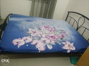 Wrought Iron queen size double bed with mattress