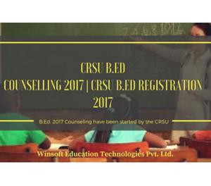b.ed admission by crsu New Delhi